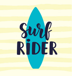 Surf rider poster in retro style vector