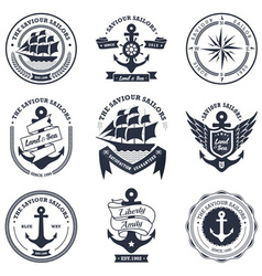 vintage retro nautical vector image
