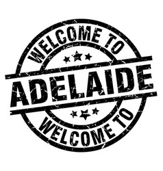 Welcome to adelaide black stamp vector