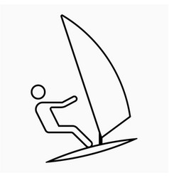 Windsurfing icon vector