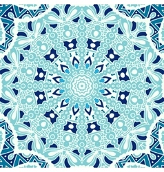 Winter blue Seamless ornametal pattern vector