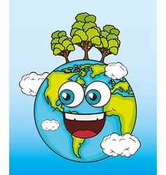 World earth design vector image