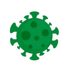 Zika virus microscope icon flat style vector