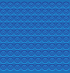 abstract blue background circles volume vector image