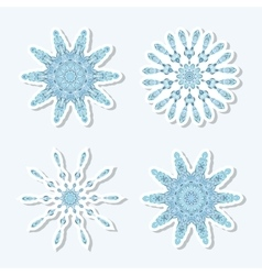 Christmas style icons Beautiful snowflakes vector image vector image