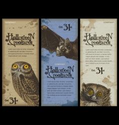 Halloween creatures vector image vector image