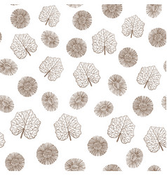 hand drawn colored coltsfoot background vector image vector image