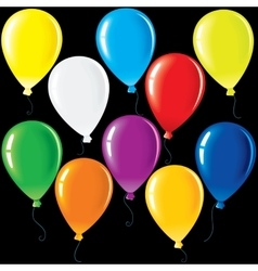 Isolated Party Balloons vector image vector image