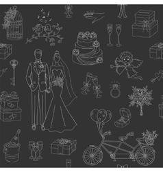 Wedding seamless background vector image