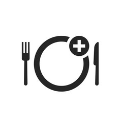 black simple food ordering icon vector image