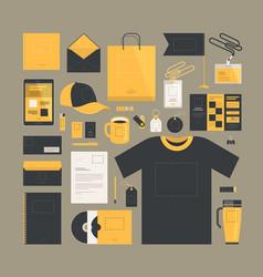business marketing corporate identity design vector image