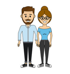 couple happy and together icon vector image