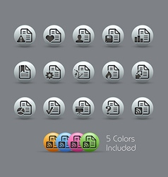 Document Icons 2 Pearly Series vector image