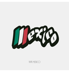 Mexico script hand lettering vector image