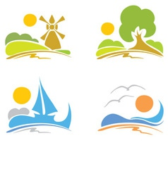 signs - summer sea nature vector image vector image