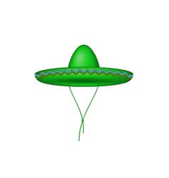 sombrero hat in green design vector image vector image