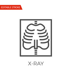 x-ray icon vector image vector image