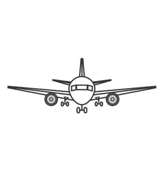 airplane silhouette isolated icon design vector image vector image