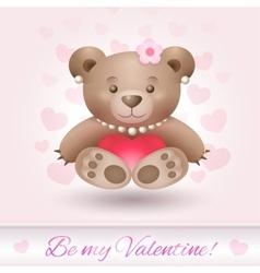 Beautiful Teddy bear girl in love vector image vector image