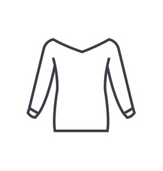 blouse line icon sign on vector image vector image