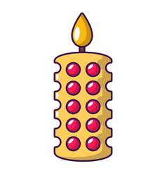 candle ceremony icon cartoon style vector image