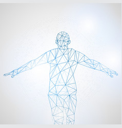 lines connected to success symbolizing the vector image vector image