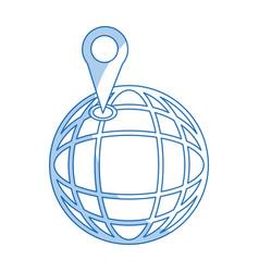 location on globe pin map world image vector image