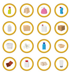 Packaging cartoon icon circle vector