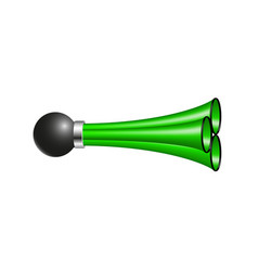 triple air horn in green design vector image vector image
