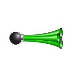 Triple air horn in green design vector