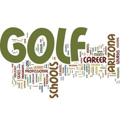 arizona golf schools give you the upper hand text vector image