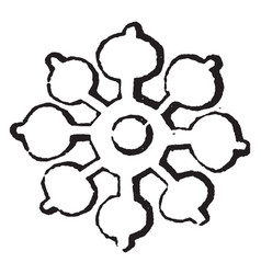 Double quatrefoil differences used by armorists vector