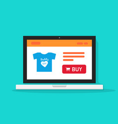 e-commerce shop online store on laptop computer vector image vector image