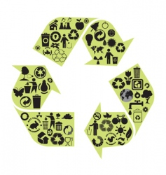 recycle diagram vector image vector image