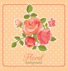 rose background floral card vector image vector image