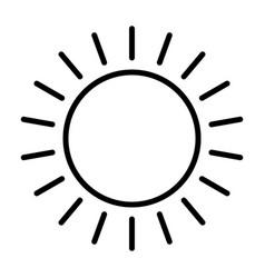 sun line icon simple minimal 96x96 pictogram vector image