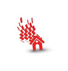 3d home icon vector