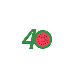 40 year anniversary fruit number template design vector