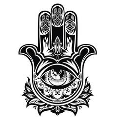 amulet hamsa hand of fatima vector image