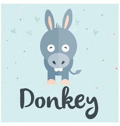 Animal donkey cartoon donkey background ima vector