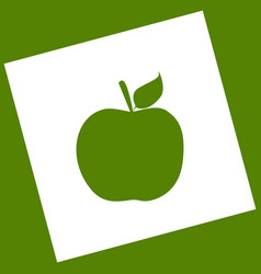 apple sign white icon vector image