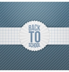 Back to School greeting Emblem on paper Ribbon vector image
