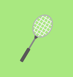 badminton racket flat graphic vector image