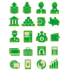 bank icon set vector image
