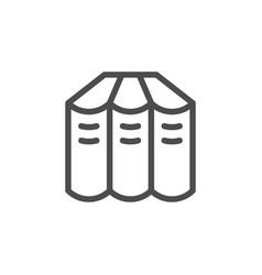 books set line icon vector image