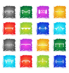 bridges icons set vector image