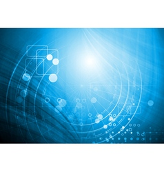 Bright technology design vector image