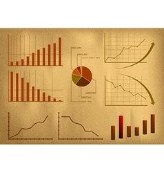 business symbol old paper vector image
