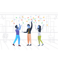 businesspeople celebrating event colleagues vector image