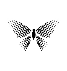 Butterfly with rhombus on wings icon simple style vector